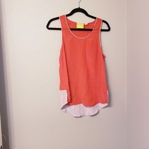 MaEve by anthropologie 100% silk color block tank